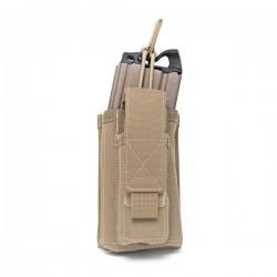 Single MOLLE Open 5.56mm & 9mm - Coyote Tan