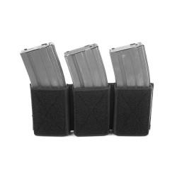 Triple Velcro Mag Pouch - Black