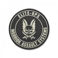 Round Rubber Logo Shield - Black