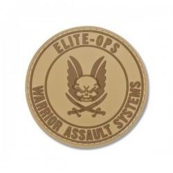 Round Rubber Logo Shield - Tan