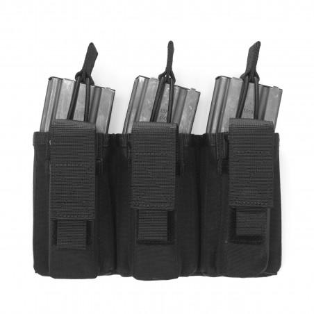 Triple MOLLE Open 5.56mm & 9mm - Black