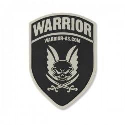 Rubber Logo Shield - Black