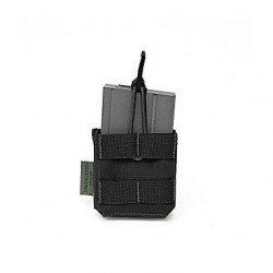 Single MOLLE 7.62 x 51mm Open Short - Black
