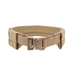 Low Profile MOLLE Belt Coyote Tan with Polymer Cobra Belt - Coyote Tan