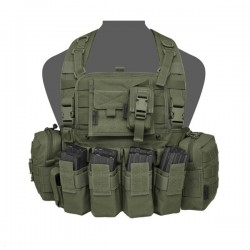 901 Elite Ops M4 Bravo Chest Rig - Olive Drag
