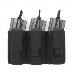 Triple MOLLE Open 5.56mm & 9mm - Black