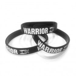 Warrior silicone Wrist Band - Black
