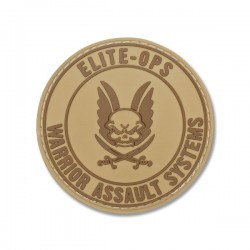 Round Rubber Logo Shield - Tan
