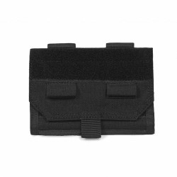 Forward Opening Admin Pouch - Black