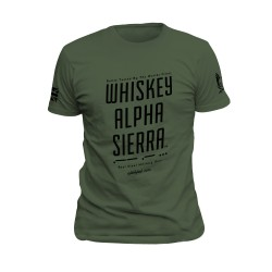 T-shirt WAS Morse OD Green