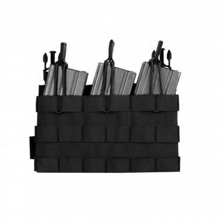 RPC Removable Triple MOLLE Open Pouch Panel - Black