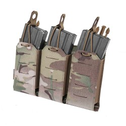 Warrior Assault System Detachable Triple Bungee 5.56 Panel - MultiCam