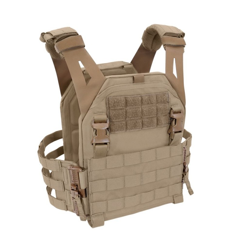 LPC Low Profile Plate Carrier V2 Ladder Sides - Tan Warrior Assault Systems