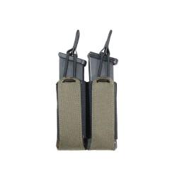 Laser Cut Double Bungee Pistol Pouch - Ranger Green - Warrior Assault Systems