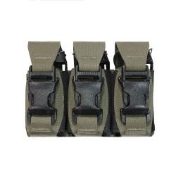 Laser Cut Triple 40mm Flash Bang Pouch - Ranger Green - Warrior Assault System