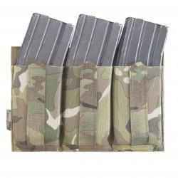DFP triple Bungee, low profile elastic 556 mag pouch Multicam